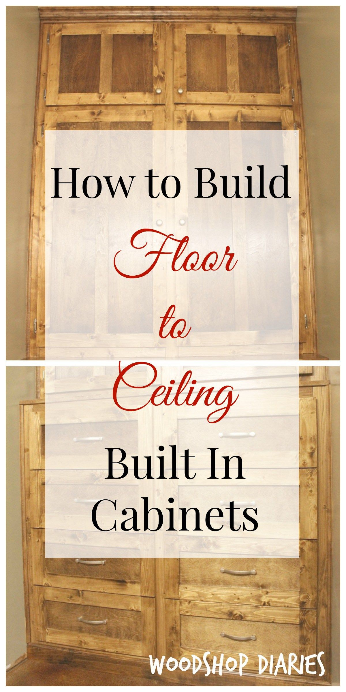 How to Build Floor to Ceiling Built Ins - Diy flooring, Woodworking projects diy, Diy built in wardrobes, Diy kitchen storage cabinet, Diy furniture plans, Diy ceiling - How to build floor to ceiling built insthis easy how to guide is easy to follow and customize to your own size and space!
