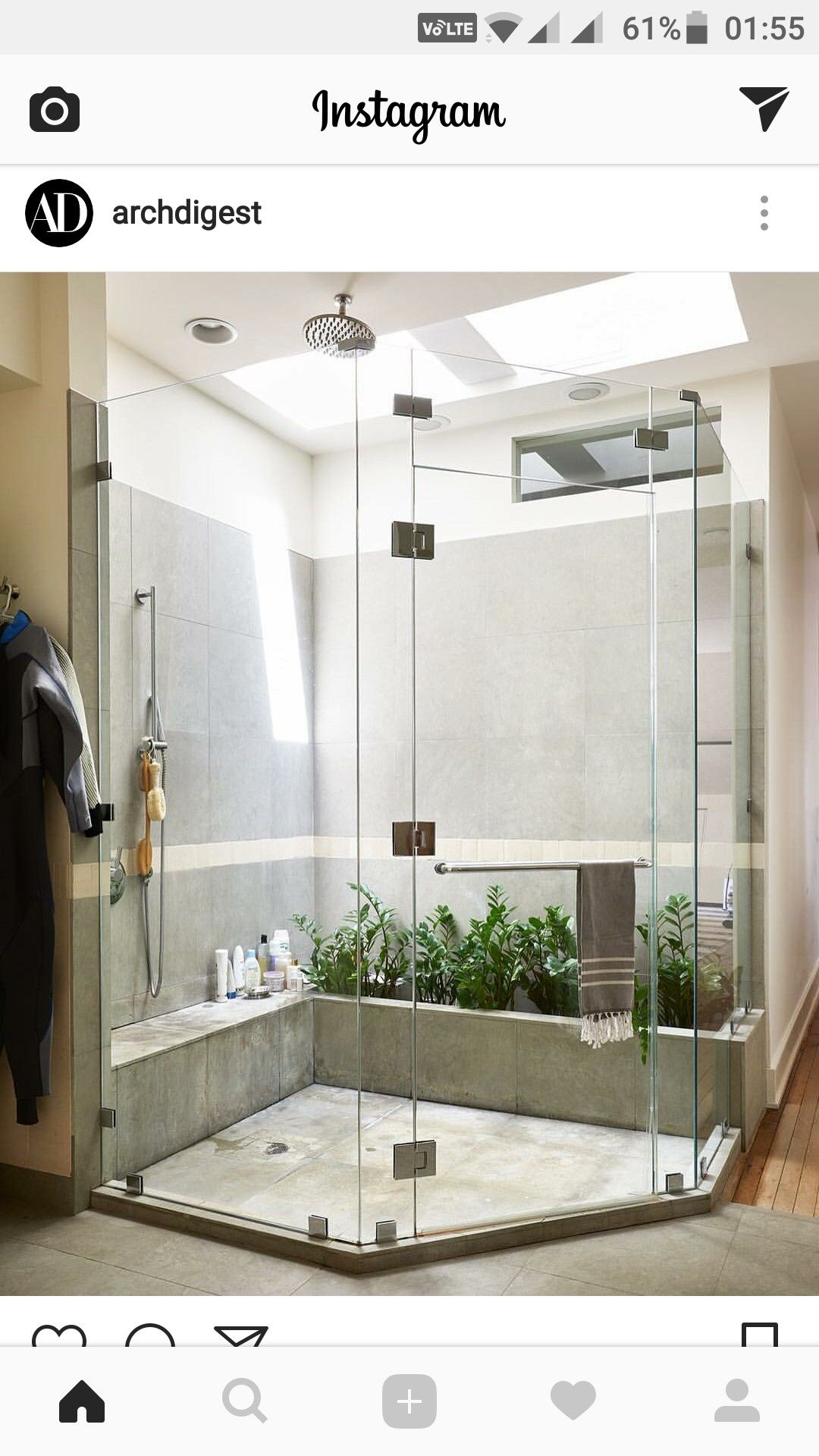 Open Dag Natural Toilet Pinterest Loft Bathroom Concrete  # Muebles Guzman Nature