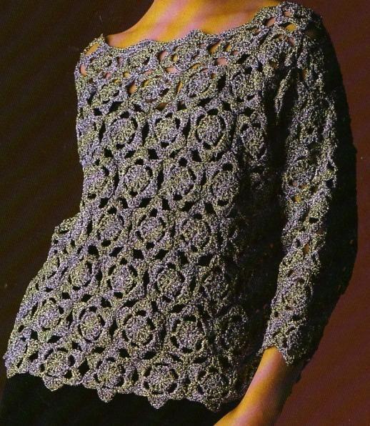 crochet la tunique fleurs crochet es la boutique du tricot et des loisirs cr atifs. Black Bedroom Furniture Sets. Home Design Ideas