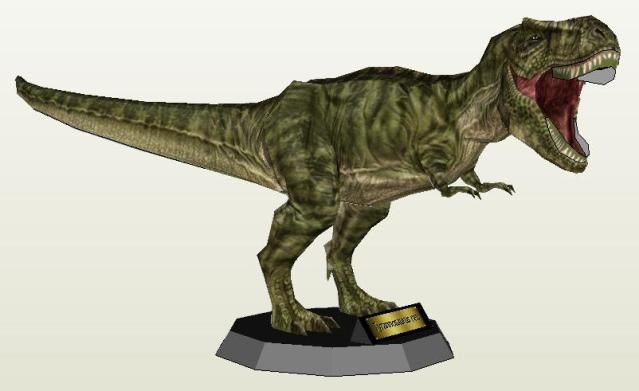 Dinosaur Papercraft Tyrannosaurus Rex Paper Model By Paper Juke