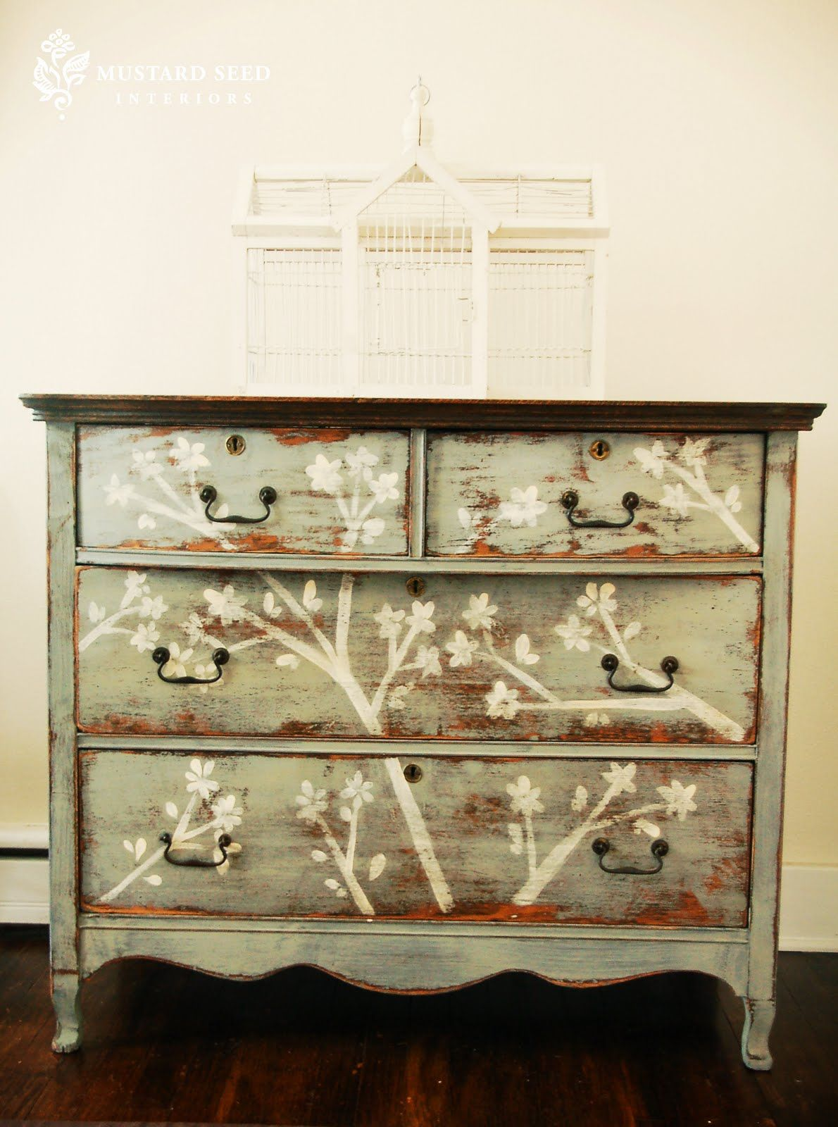 Best Diy Cherry Blossom Dresser Stencil W Paint Craft Ideas 640 x 480