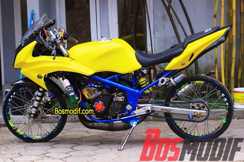 Modifikasi Motor Kawasaki Ninja R Rr Warna Kuning Keren Kawasaki