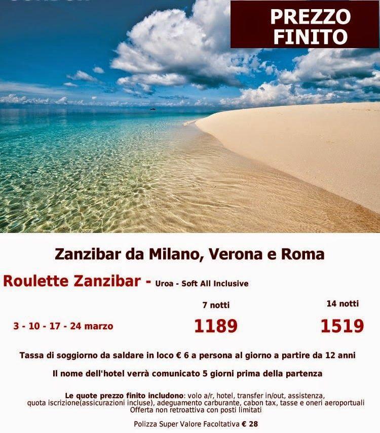 JLAND TRAVEL: ZANZIBAR ROULETTE DI MARZO PREZZO FINITO DA ROMA ...