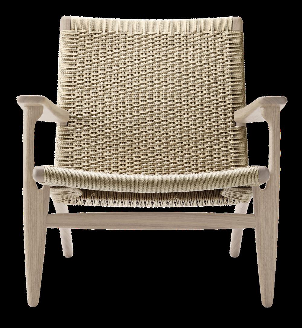 The revolutionary CH25 lounge chair by Hans J. Wegner