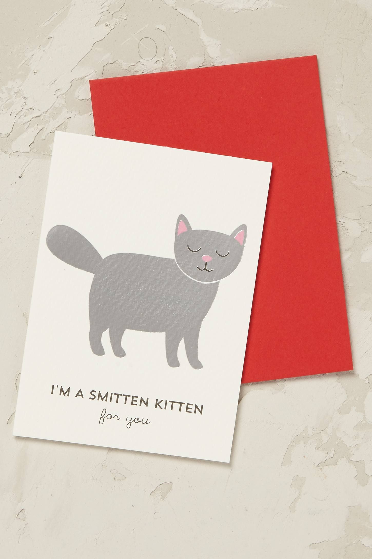Smitten Kitten Card By Choux A La Creme Christmas Gift Shop Cards Journal Stationery