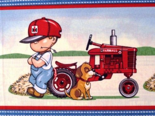International harvester farm boy the only other kids - Farmall tractor wallpaper border ...