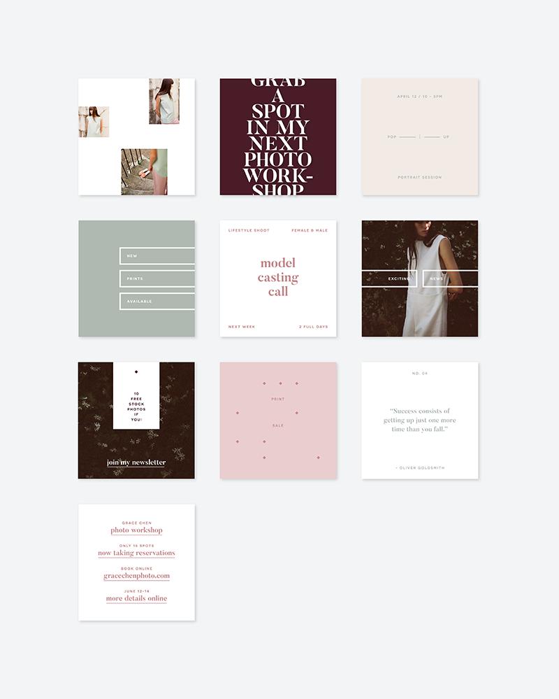 Grace Social Media Art | Branding, Composición y Papelería