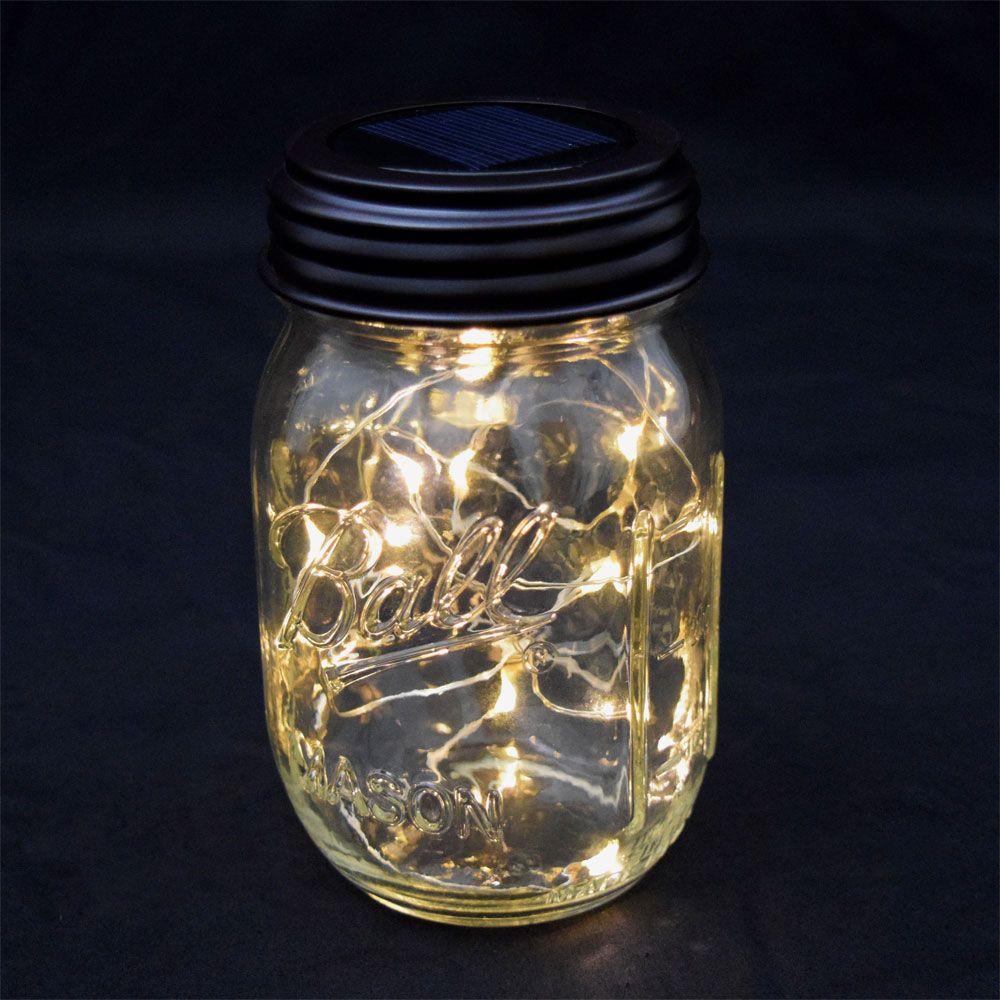 Fairy Light Mason Jar Lid Solar Powered Led Fairy Lights In A Jar Mason Jar Fairy Lights Jar Lights