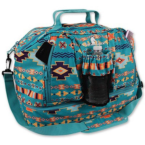 9062695f5e Coolhorse Classic Equine Weekender Duffel-Teal Southwest