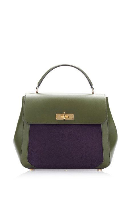 Green Leather And Purple Pony Shoulder Bag by Bally for Preorder on Moda  Operandi 44a0ea5154134
