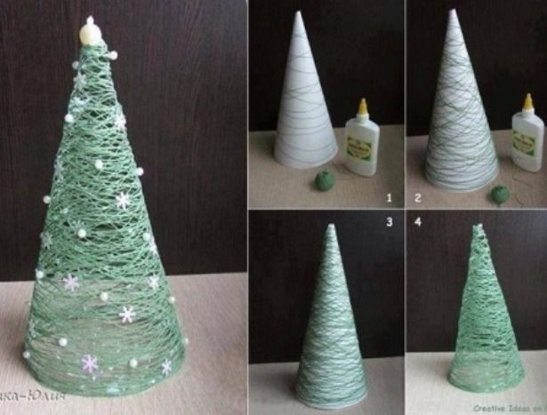 Christmas-Tree-Made-Out-Of-String