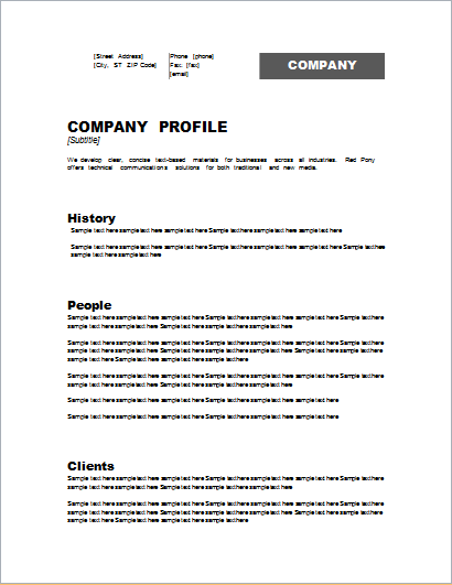 business profile templates 16 free word excel pdf samples my