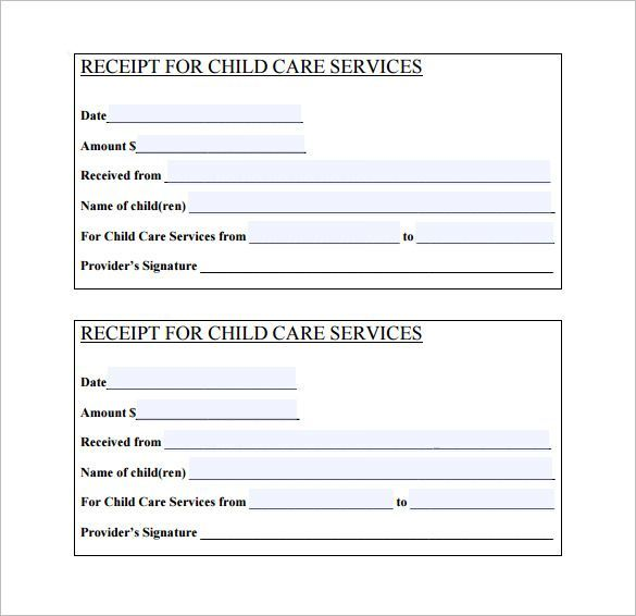 Daycare Receipt Template \u2013 12+ Free Word, Excel, PDF Format Download