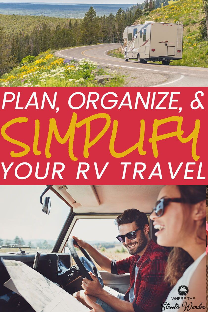 organize your rv travel with a travel planner keep track of where you are camping