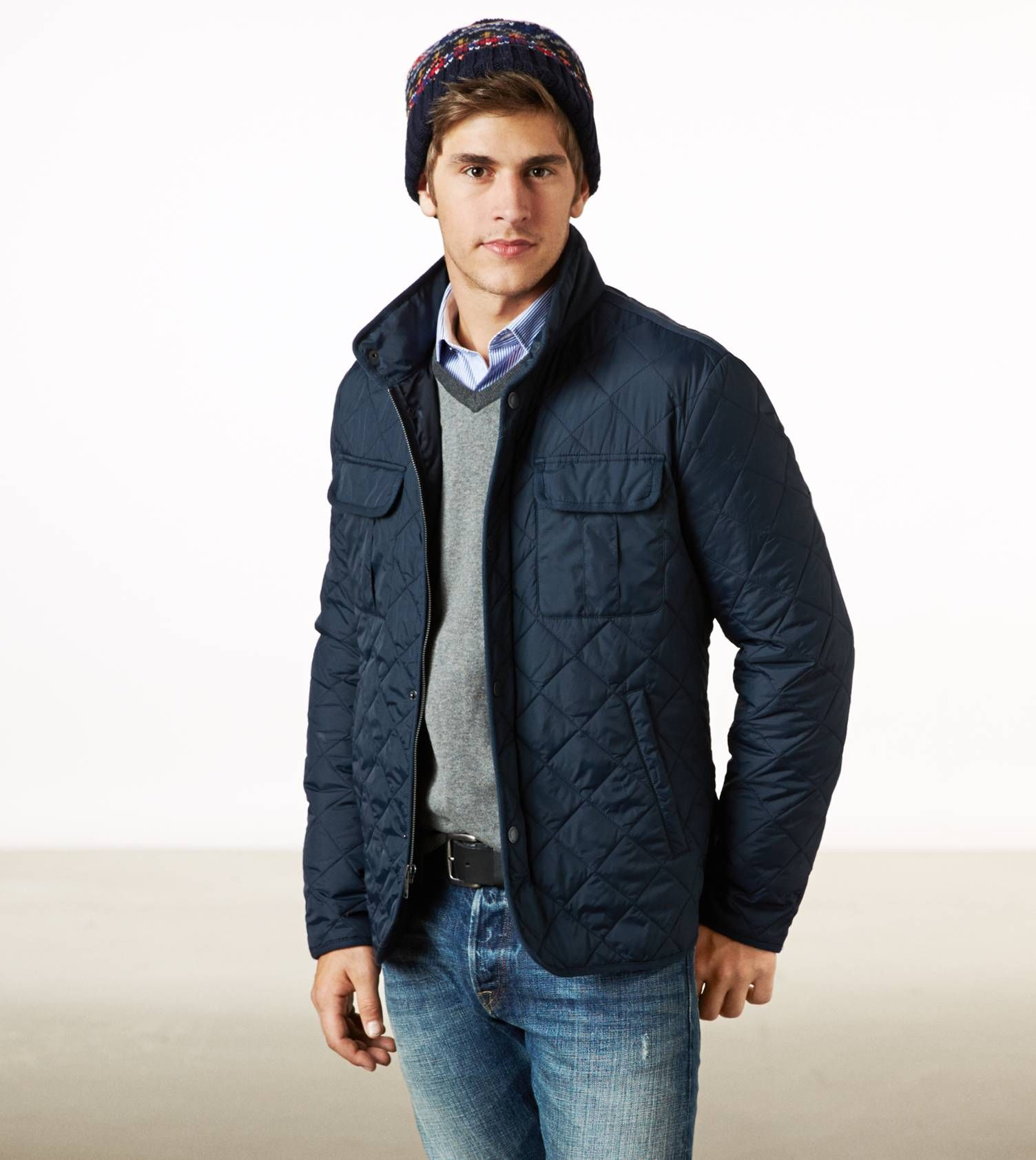 American Eagle Quilted Jacket Men S Style Pinterest