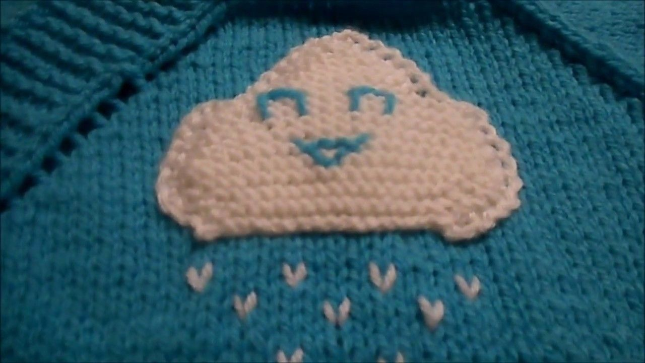 tuto tricot nuage - YouTube   Accessoires décoratifs au tricot ... c8d85dc41ef