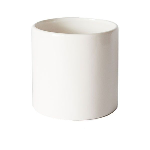 White Cercle Planter Large Outdoors Planters