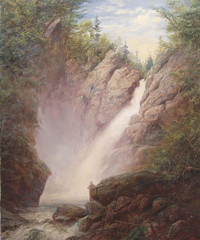 Glen Ellis Falls, oil on canvas