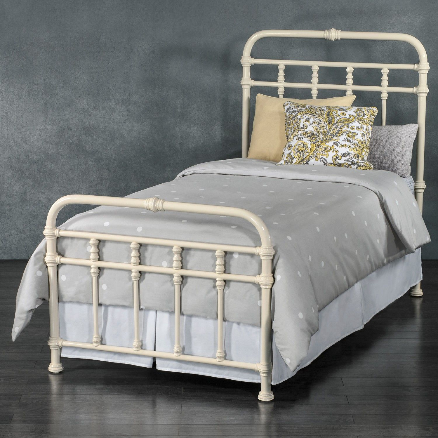 Laredo Iron Trundle Bed By Wesley Allen Antique White Finish