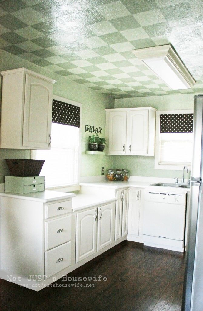 kitchen - not crazy about the ceiling, but I love everything else!