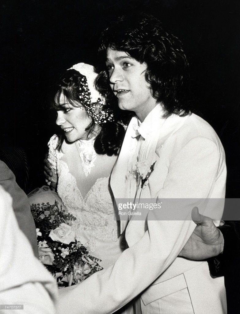 Valerie Bertinelli And Eddie Van Halen During Wedding Of Eddie Van Van Halen Eddie Van Halen Valerie Bertinelli