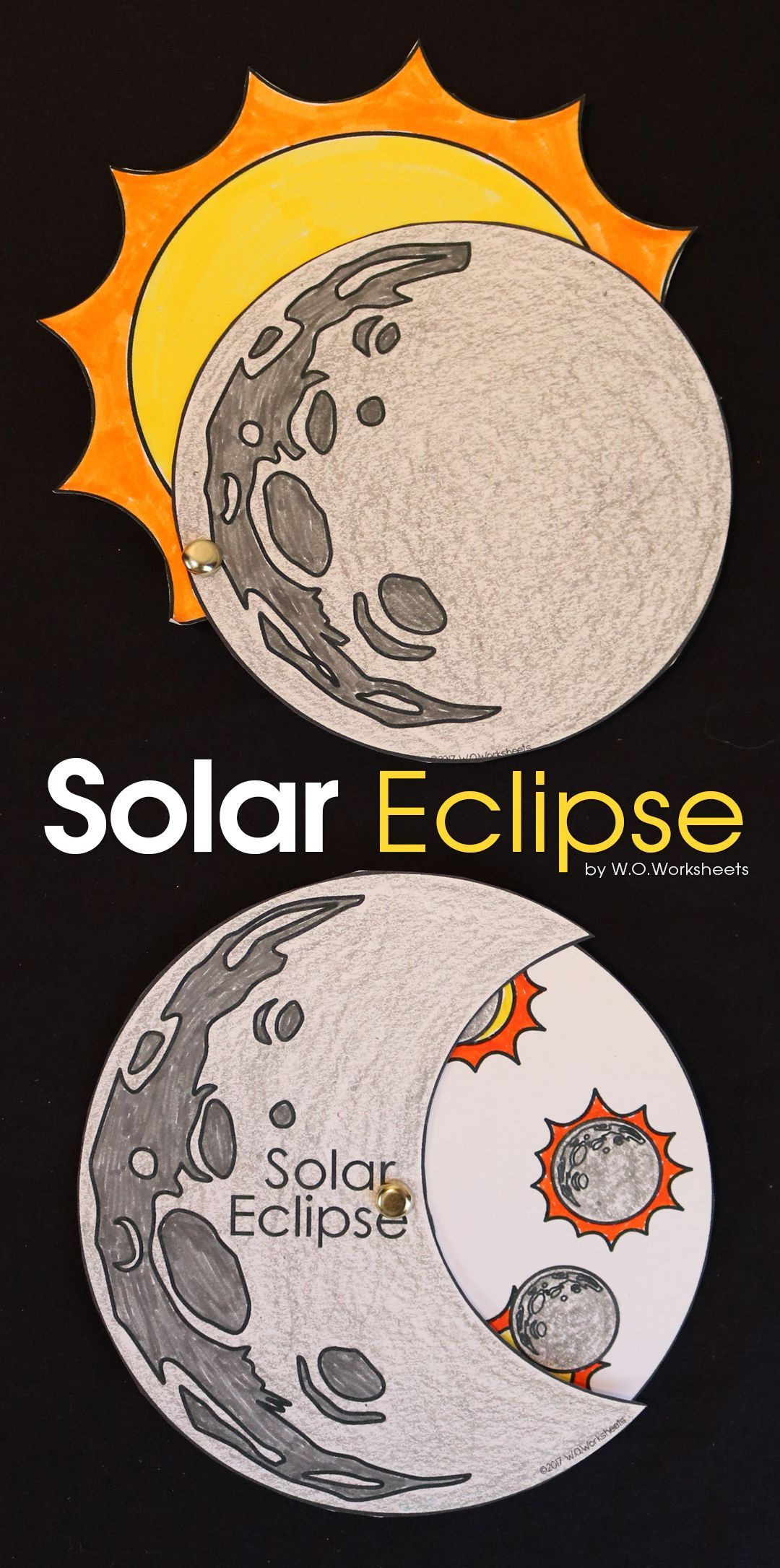 Solar Eclipse Worksheets And Crafts For The Solar Eclipse
