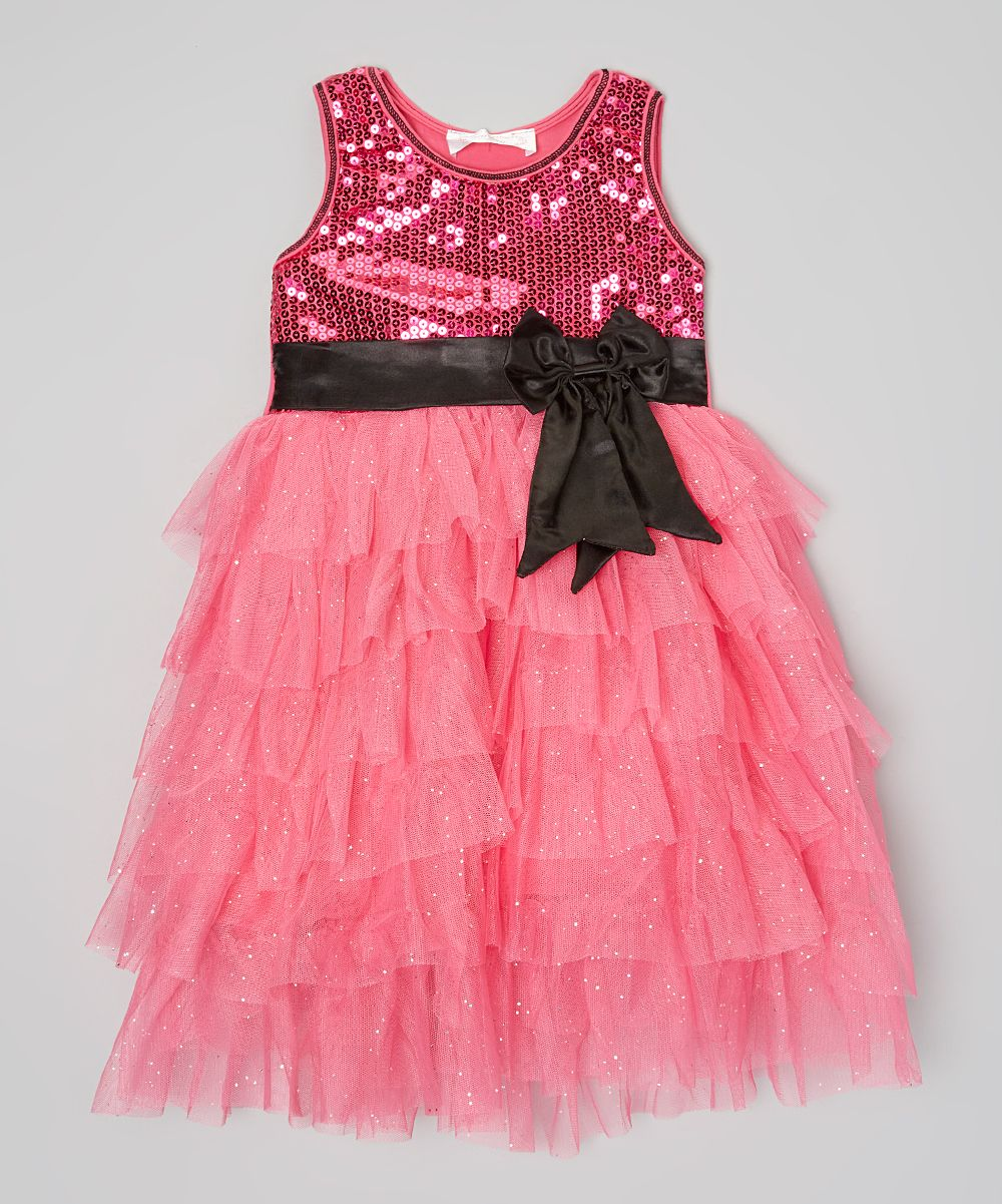 8f56bc18abef Hot Pink & Black Sequin Dress - Infant Toddler & Girls   Products ...
