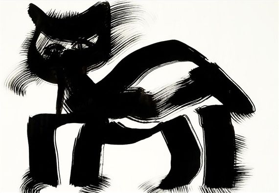 Richard Mortensen - Cat, 1980