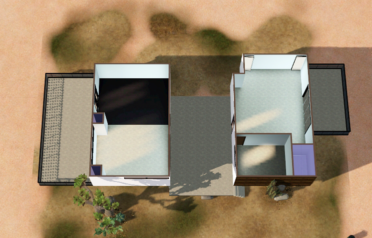 "pseudodigs: "" My first upload, The Taliesin House =) Unfurnished l 30 x 30 l 1br, 1ba l $20,041 I'm patched to 1.50 & have Late Night, Ambitions, Pets, Showtime, Seasons & the High End Loft Stuff..."