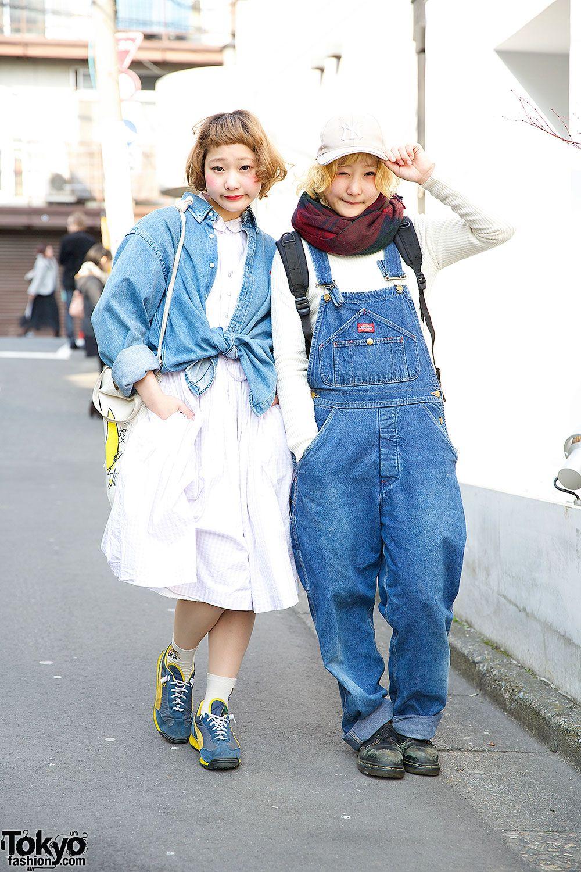 Twin sisters naru and nari in harajuku w resale denim u cute