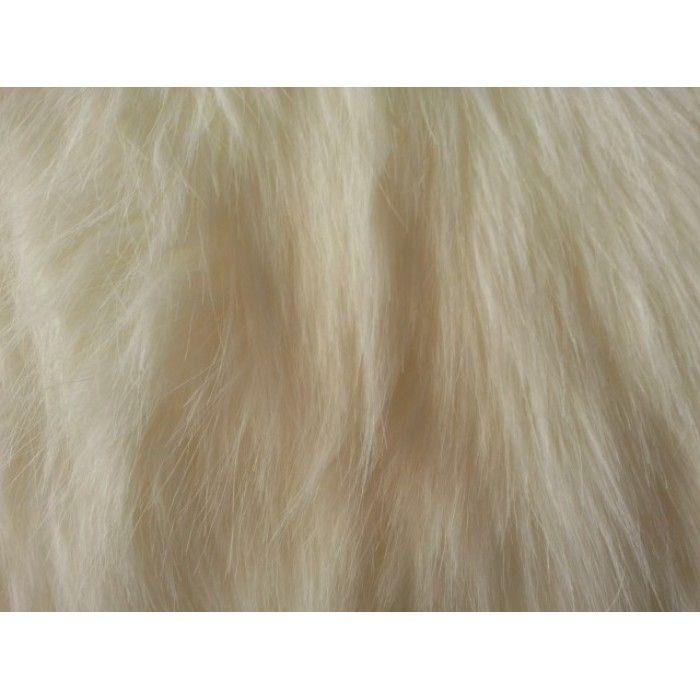 Ivory Luxury Fox Faux Fur