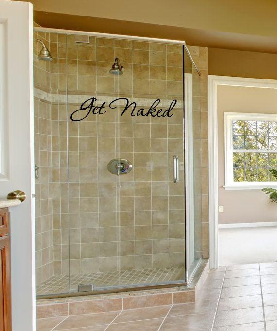 Bathroom Wall Decal Get Naked Bathroom By FourPeasinaPodVinyl, $8.00