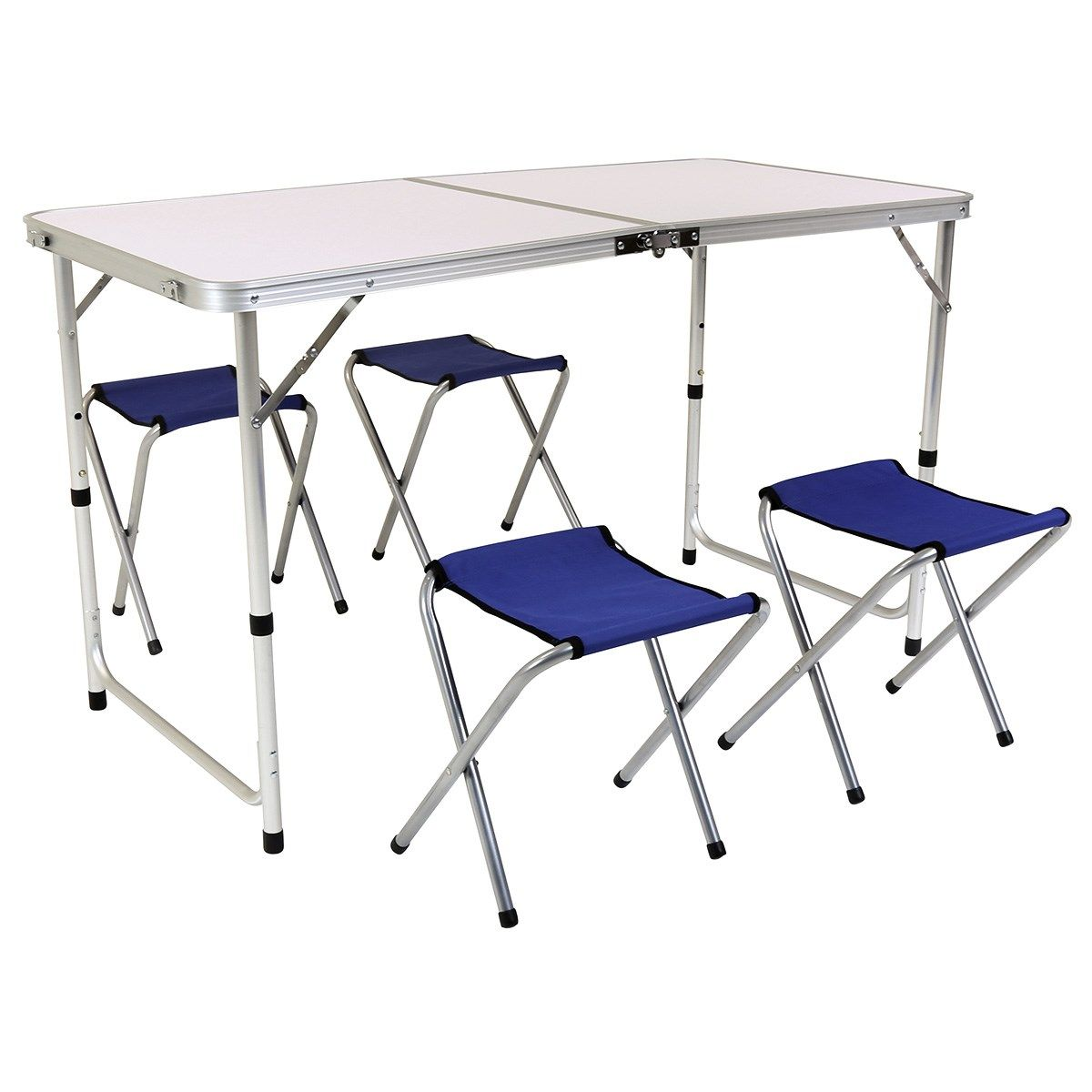 Folding Camping Table And Four Chairs Portable Picnic