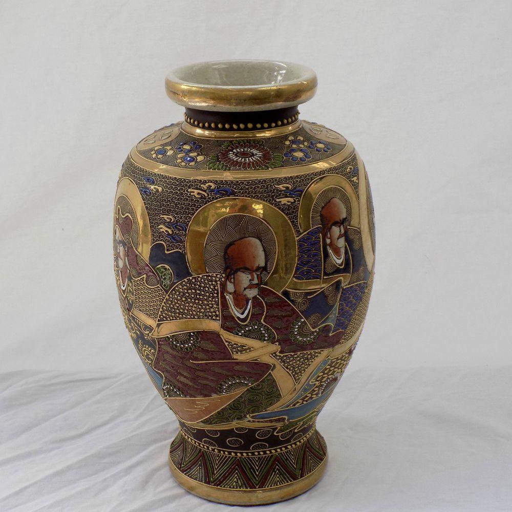 Porcelain japanese satsuma immortals moriage gilt enamel antique porcelain japanese satsuma immortals moriage gilt enamel antique vase asian reviewsmspy