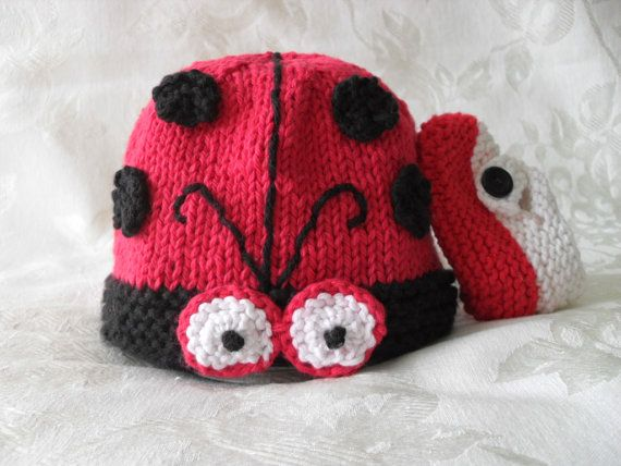 Hand Knitted BabyHat-cotton knitted baby hat-Children Clothing - All  Weather Baby Hat-Baby Beanie-LADYBUG or GENTLEMAN BUG on Etsy a37540d48284