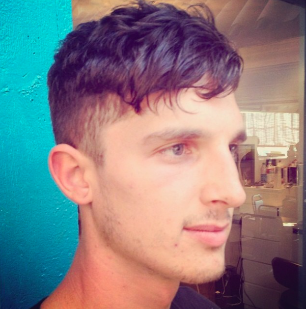 Short Fade On Wavy Hair Great Mens Haircut At Canary Salon In