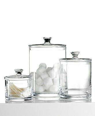 Bathroom Accessories Hotel Collection hotel collection bath accessories, glass jar collection - bathroom
