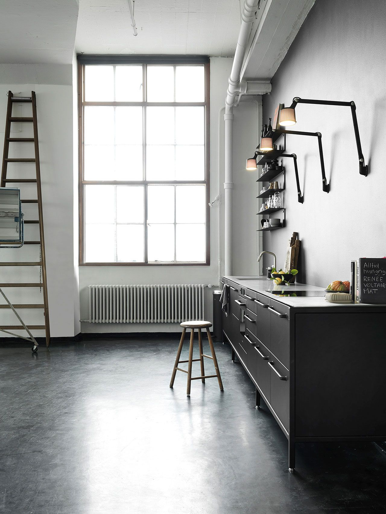 Kitchen Wall Lamps Equipped With Analogue Details Such As An