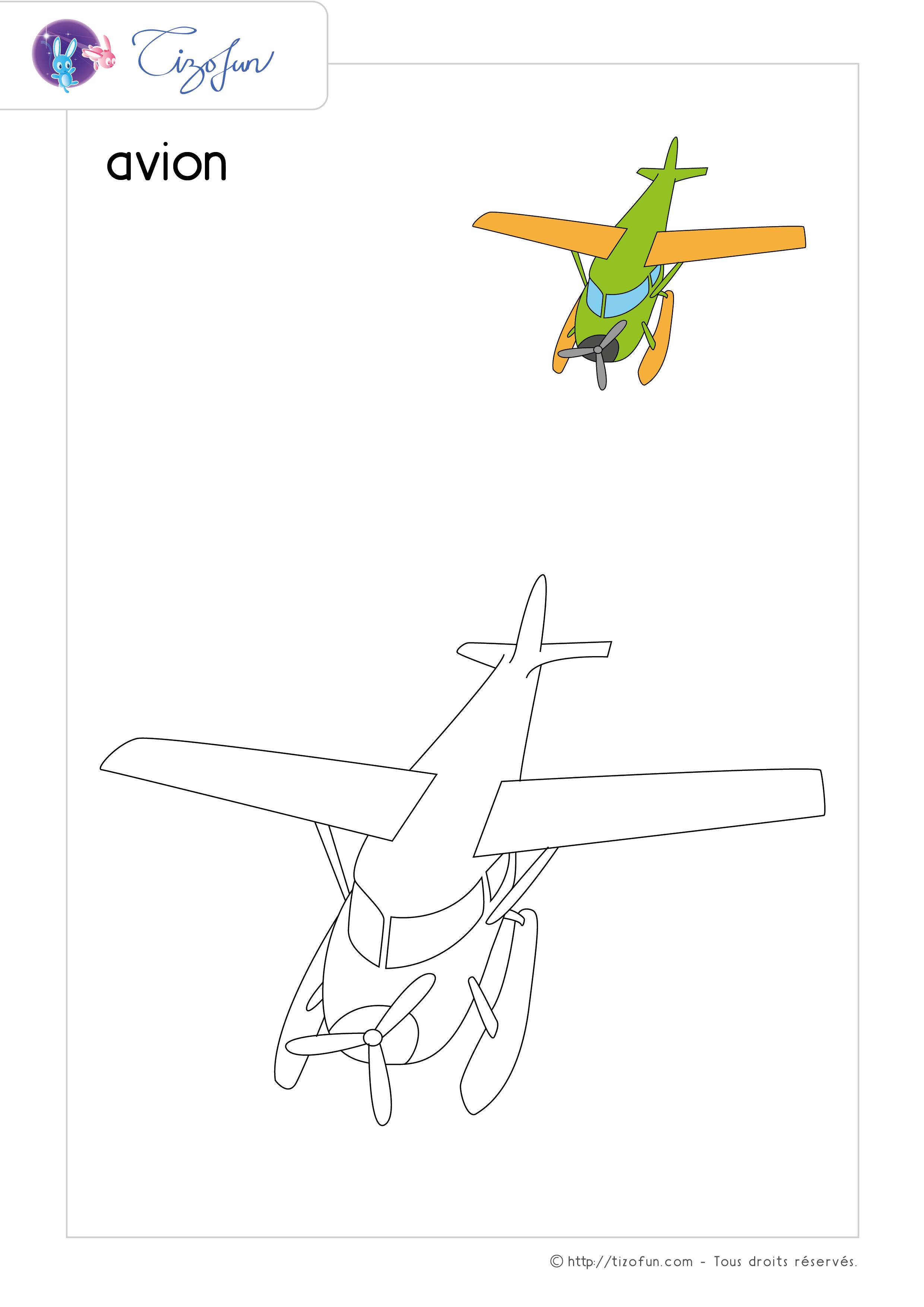 Coloriages Avion Apanageet Com
