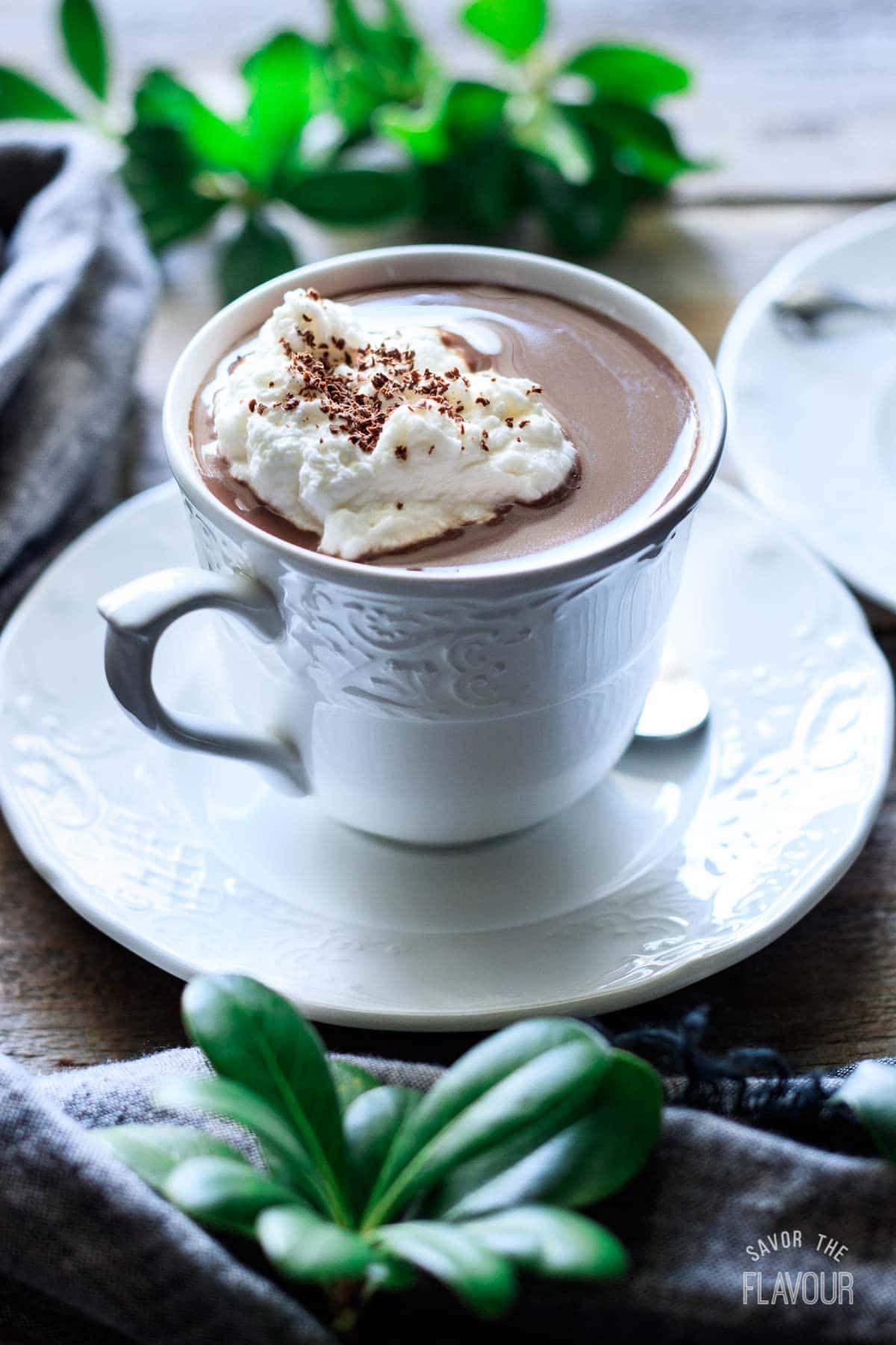 French Hot Chocolate Recipe | Savor the Flavour #hotchocolaterecipe