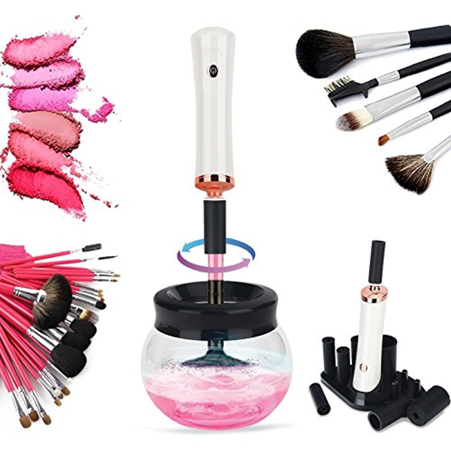 Makeup Brush Cleaner  Electronic Makeup Brush Cleaning Kit, Professional