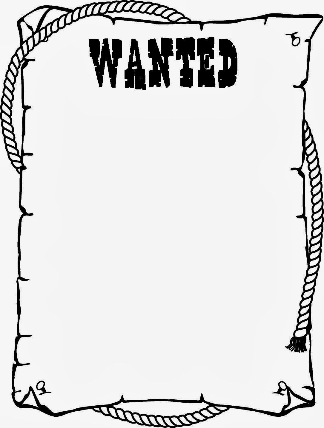 Wanted Post Poster Template Wild West Crafts Cowboy Crafts