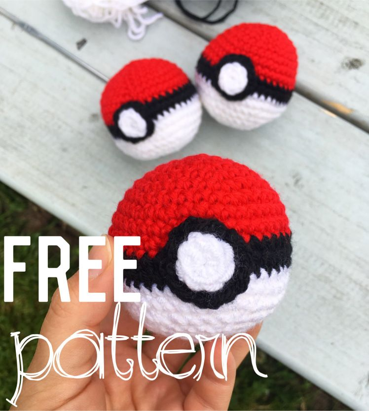 I Couldnt Resist Found This Free Pokeball Crochet Pattern On