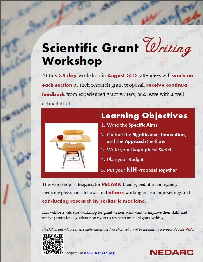workshop flyer I created for the 2012 scientific grant writing - how to write a flyer
