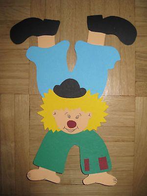 Fensterbild Fotokarton Tonkarton Clown Kopfstand Neu Basteln
