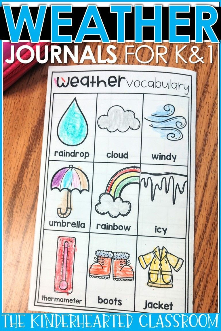 Weather Journals Real Life Science The Kinderhearted