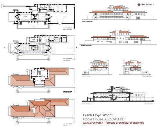 Robie House 2d F Lloyd Wright Architettura Casa