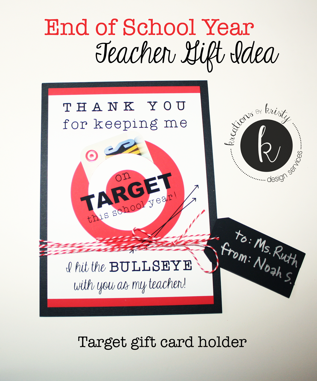 Teacher Gift Idea: Target Gift Card Holder {free printable ...