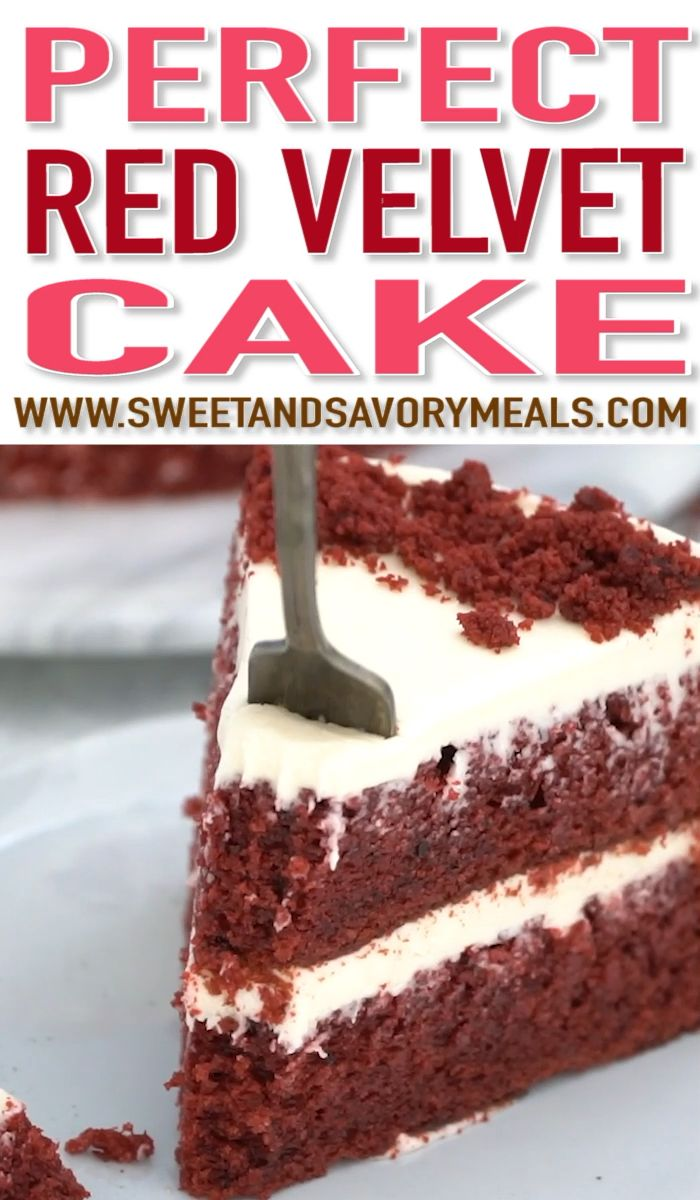 Red Velvet Cake (VIDEO) - Sweet and Savory Meals #redvelvetcheesecake