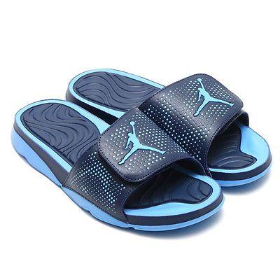 231e0ff9aa7a64 Nike Jordan Hydro 5 Mens 820257-407 Varsity Blue Mid Navy Slide Sandals  Size 10